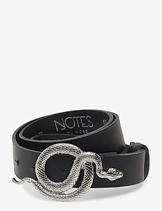 Paxton Leather Belt - skärp - noir/silver