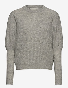 Rhonda Blouse - swetry - light grey melange