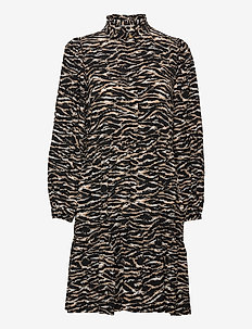 Rosie Zebra Short Dress - maxi kjoler - zebra