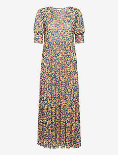 Pearl Dress - midiklänningar - pink flower