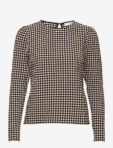 Riley Blouse - bluzki z długimi rękawami - navy check