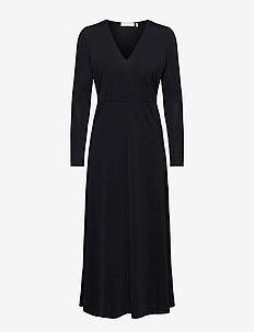 Melanie V-Neck Dress - aftonklänningar - noir