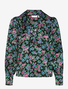 Sara Organic Silk Blouse - långärmade skjortor - flower  dream
