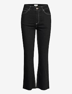 Selina Noir Cropped Jeans - utsvängda jeans - noir