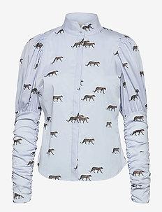 Nila Shirt P - långärmade skjortor - leopard
