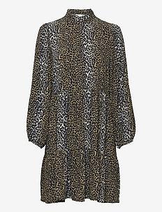 Taylor Leopard Short Dress - sommarklänningar - leopard