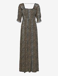 Taylor Leopard Maxi Dress - maxiklänningar - leopard