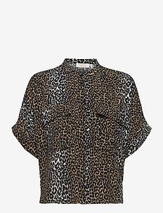 Taylor Leopard Shirt - kortärmade blusar - leopard