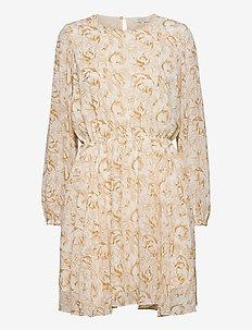 Tracy Recycled Short Dress P - vardagsklänningar - flower sketch