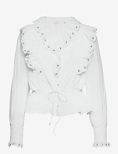 Tenna Blouse - långärmade blusar - white