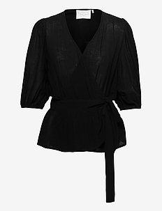 Tamia Top - kortärmade blusar - noir