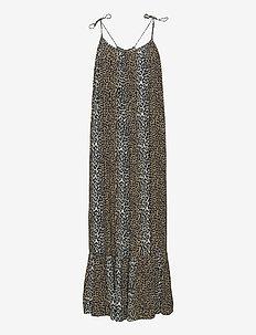 Taylor Leopard Halterneck Dress - sommarklänningar - leopard