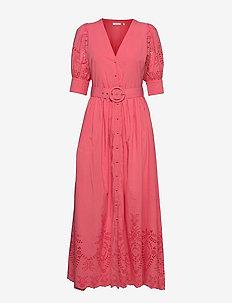 Vanessa Dress - sommerkjoler - pink coral
