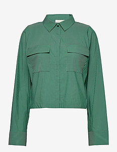 Whitney Shirt - langermede bluser - green stripe
