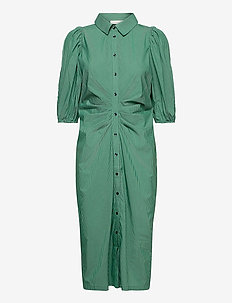 Whitney Dress - shirt dresses - green stripe