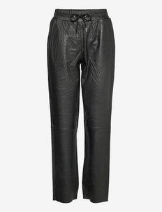 Taz Leather Pants - skinnbyxor - noir