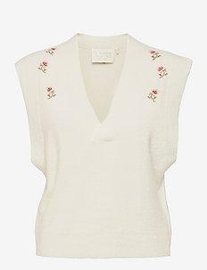 Angel Vest - kootud vestid - cream