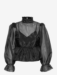 Anastacia Blouse - långärmade blusar - noir