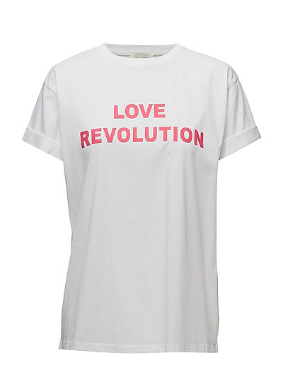 Gladys Print T-Shirt - WHITE