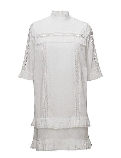 Gina Short Dress - WHITE