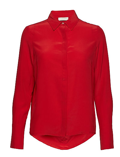 Harmony Silk Shirt - STRAWBERRY