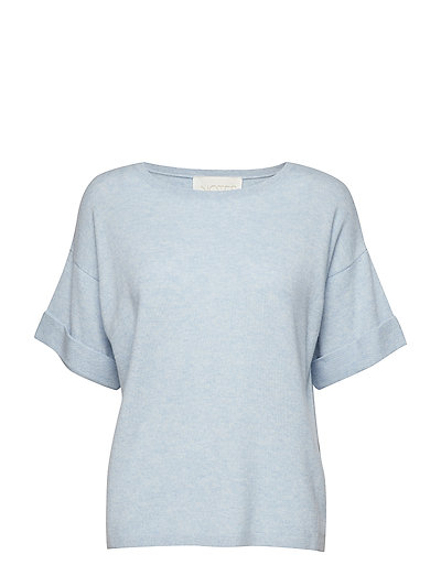 Hive Cashmere Top - BLUE SKY MELANGE