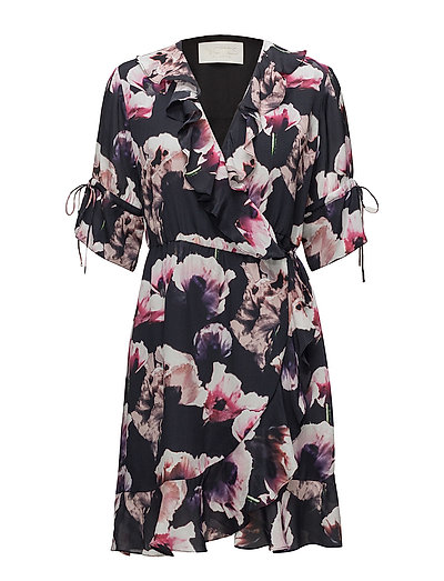 Heat Short Dress - DARK FLOWER