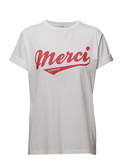 Hoop Print T-Shirt - WHITE