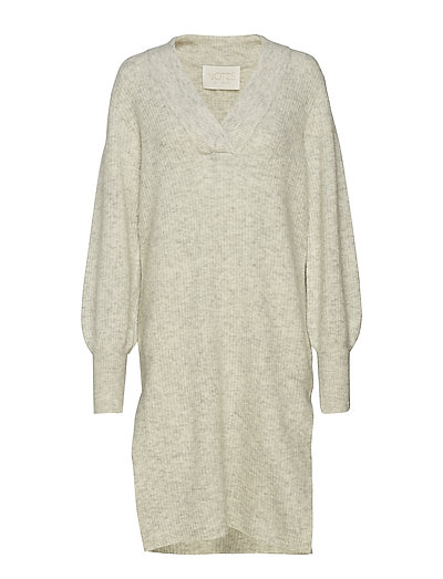 Iris Dress - LIGHT GREY MELANGE