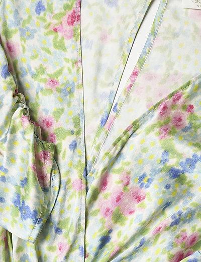 Notes Du Nord Odeon Drape Silk Dress P- Kleider Romantic Flower