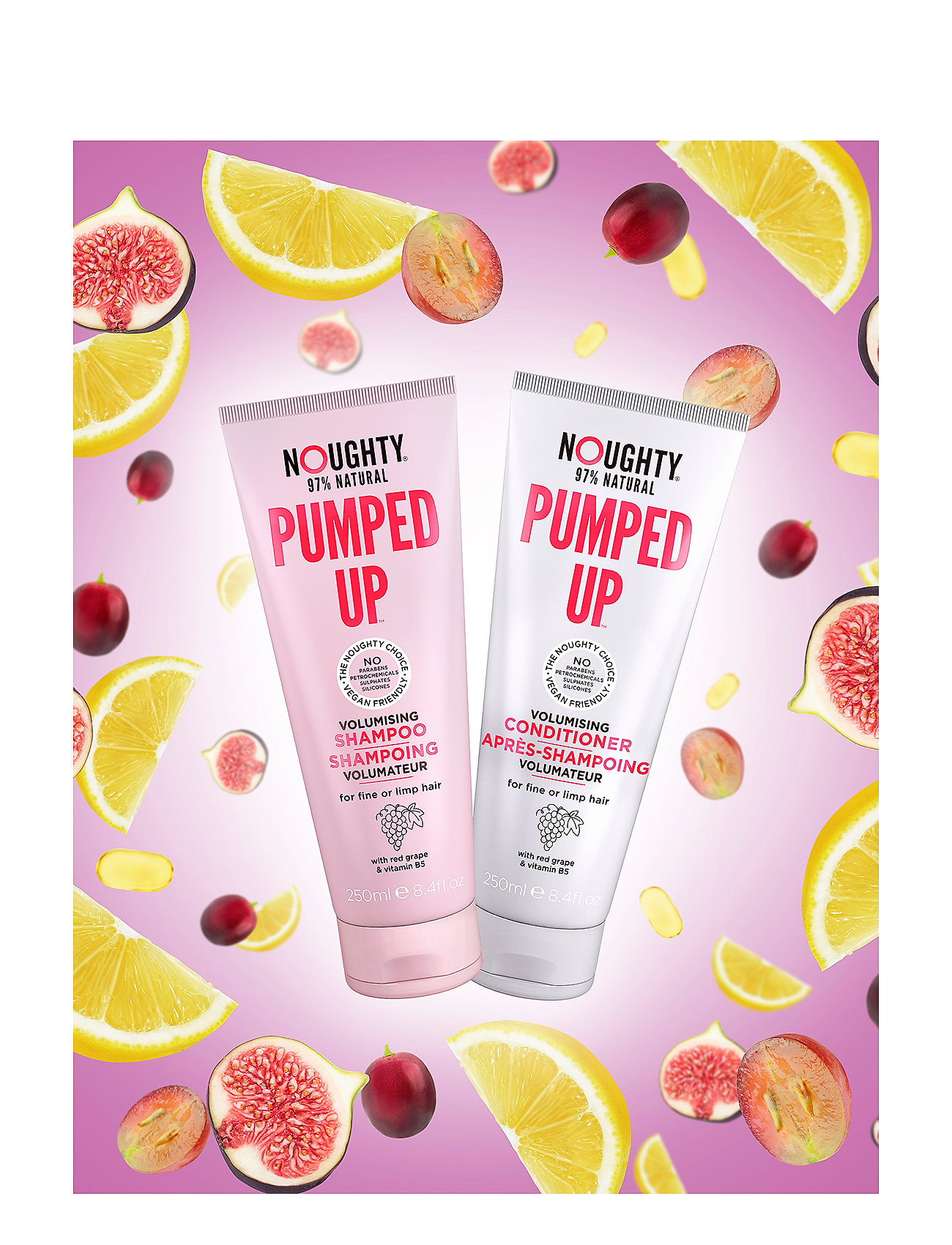 Noughty - Pumped Up Volumising Conditioner - balsam & conditioner - clear - 1