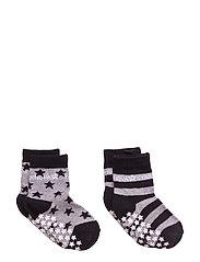 Anti-Slip Grey Socks - GREY