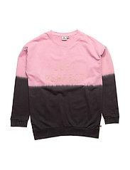 Long Sweater Pink Pe - DARKGREY/PINK