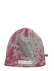 W-Beanie Splash Pink - GREY