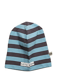 Beanie Striped Blue - BLUE/DARKGREY
