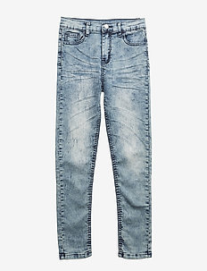 Tapered Washed Denim - DARKBLUE