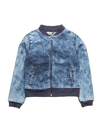 Washed Denim Jacket - BLUE