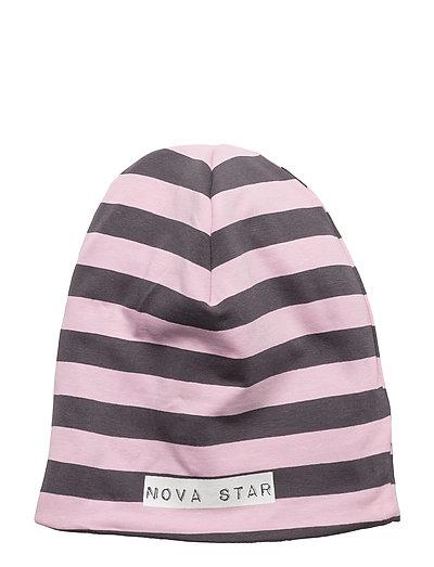 W-Beanie Striped - PINK/DARKGREY