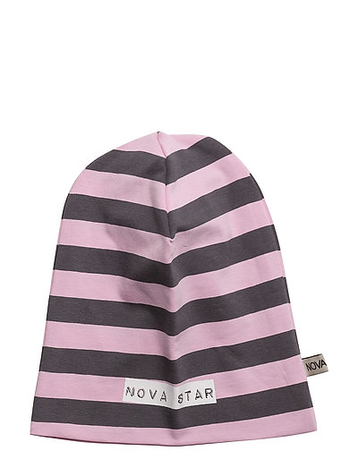 Beanie Striped Pink - PINK/DARKGREY