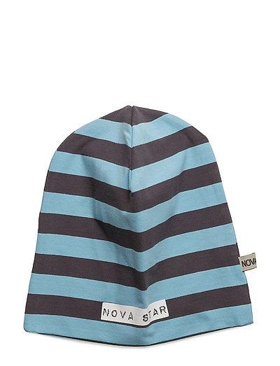 Beanie Striped Blue - BLUE/DARKGREY