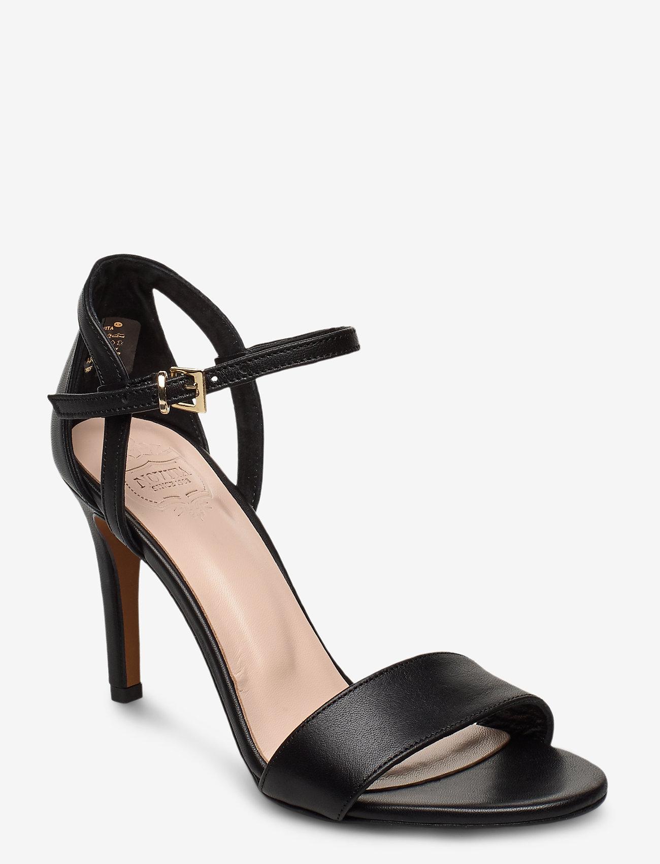 Novita - Chiara - høyhælte sandaler - black