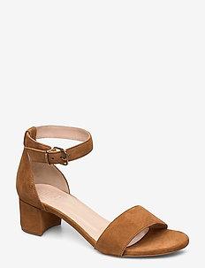 Posada - sandalen met hak - brown