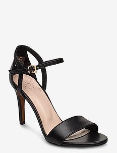 Chiara - høyhælte sandaler - black