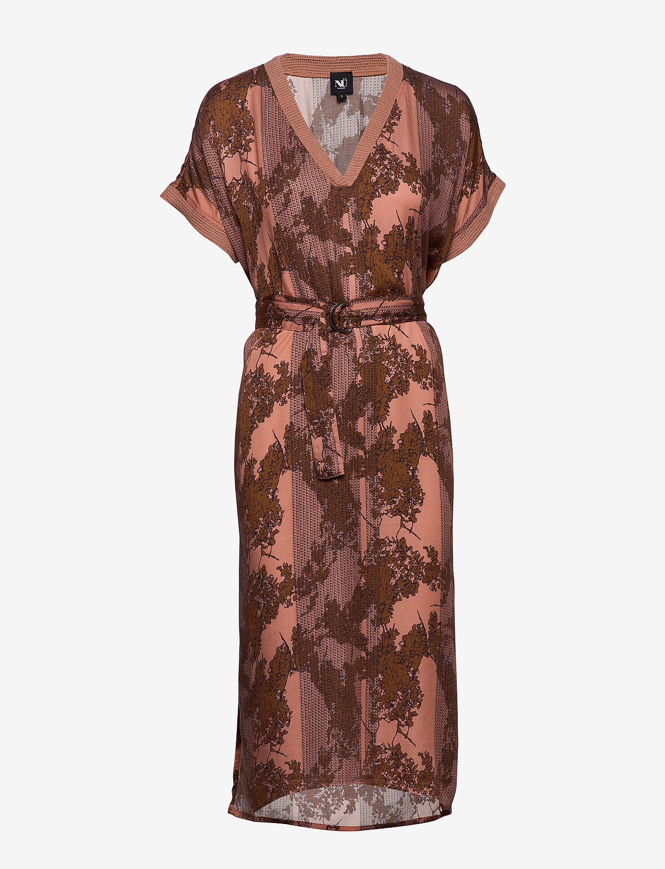 NÜ Denmark - Capri Dress - robes longeur du midi - dusty coral mix