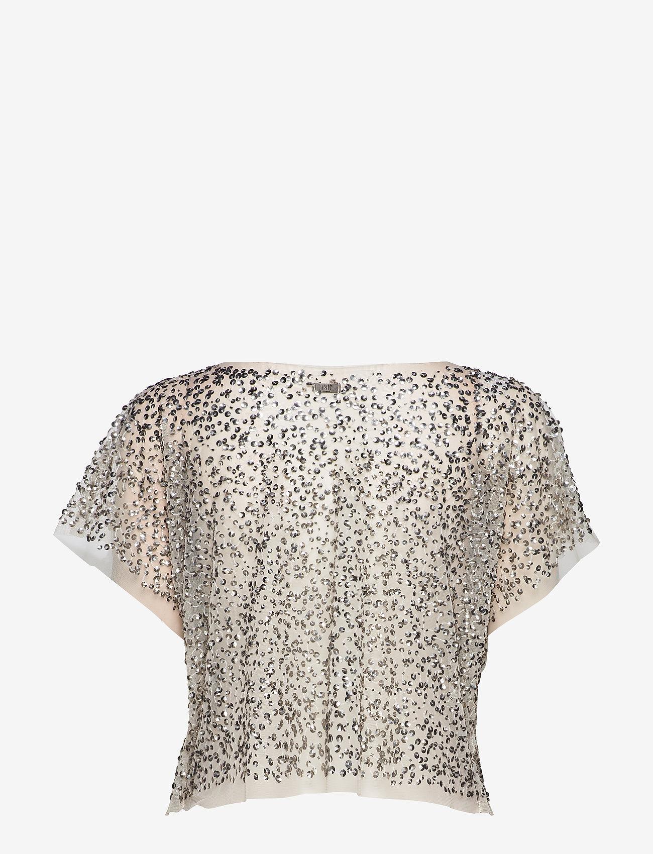 NÜ Denmark - Cayla Top mesh - t-shirts - creme