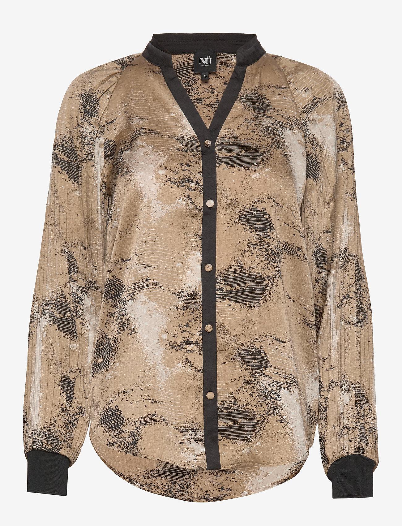 NÜ Denmark - Colby Shirt - blouses à manches longues - camel mix