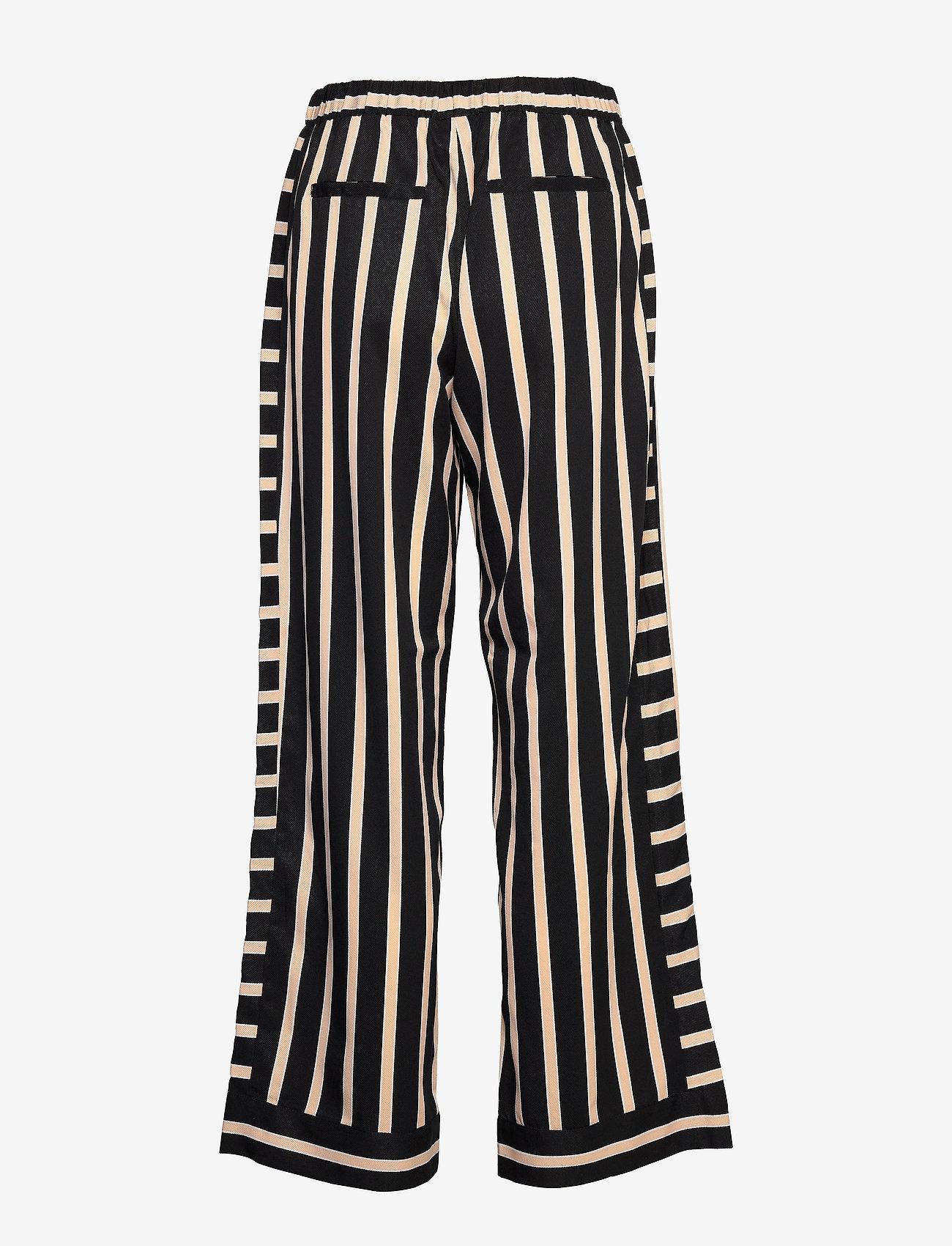 NÜ Denmark - Elina Calli Pants - pantalons larges - black mix