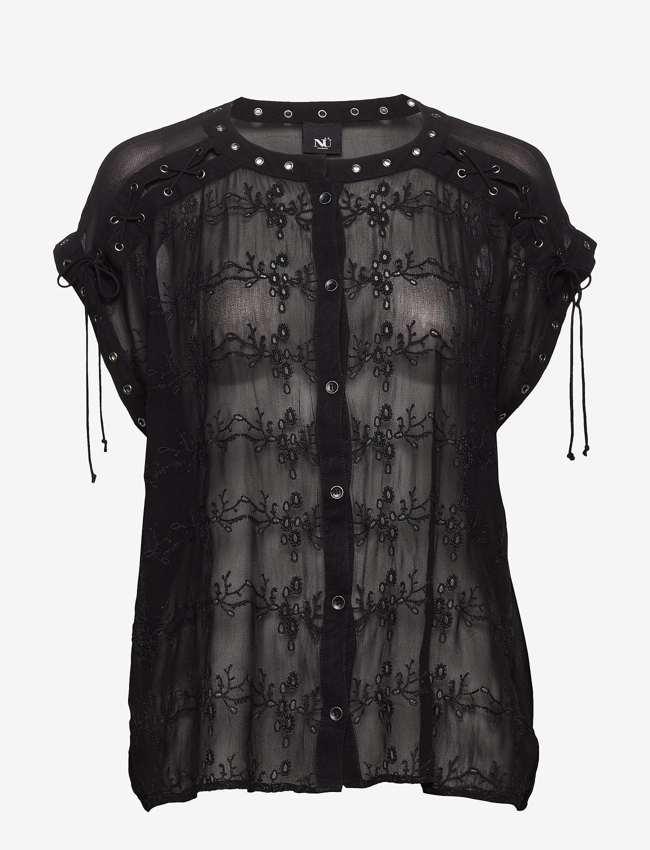 NÜ Denmark - Chica Blouse - blouses à manches courtes - black