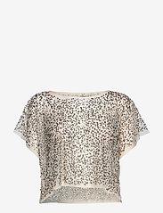 NÜ Denmark - Cayla Top mesh - t-shirts - creme - 0