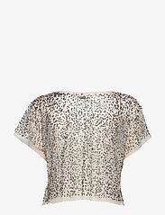 NÜ Denmark - Cayla Top mesh - t-shirts - creme - 1